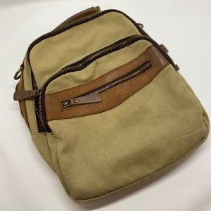 Canvas Leather Back Pack